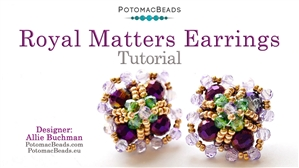 How to Bead / Free Video Tutorials / Earring Projects / Royal Matters Earrings Tutorial
