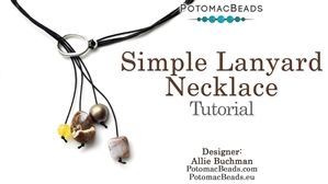 How to Bead / Free Video Tutorials / Stringing & Knotting Projects / Boho Chic Simple Lanyard Necklace Tutorial