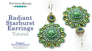 How to Bead Jewelry / Beading Tutorials & Jewel Making Videos / Earring Projects / Radiant Starburst Earrings Tutorial