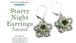 How to Bead / Free Video Tutorials / Earring Projects / Starry Night Earrings Tutorial
