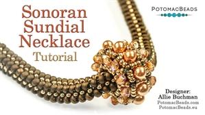 How to Bead Jewelry / Beading Tutorials & Jewel Making Videos / Bead Weaving Tutorials & Necklace Tutorial / Sonoran Sundial Necklace Tutorial