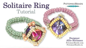 How to Bead Jewelry / Beading Tutorials & Jewel Making Videos / Ring Projects / Solitaire Ring Tutorial