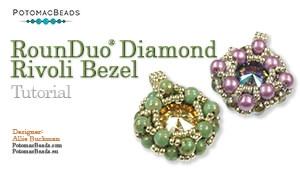 How to Bead Jewelry / Beading Tutorials & Jewel Making Videos / Pendant Projects / RounDuo® Diamond Rivoli Bezel Tutorial
