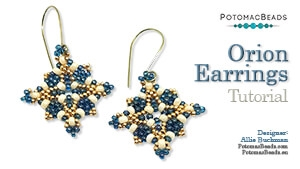 How to Bead / Free Video Tutorials / Earring Projects / Orion Earrings Tutorial