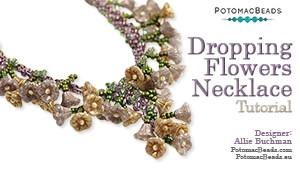How to Bead Jewelry / Beading Tutorials & Jewel Making Videos / Bead Weaving Tutorials & Necklace Tutorial / Dropping Flowers Necklace Tutorial