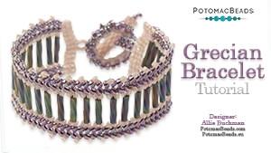 How to Bead Jewelry / Beading Tutorials & Jewel Making Videos / Bracelet Projects / Grecian Bracelet Tutorial