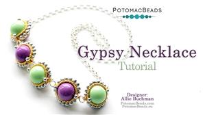 How to Bead Jewelry / Beading Tutorials & Jewel Making Videos / Bead Weaving Tutorials & Necklace Tutorial / Gypsy Necklace Tutorial