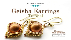 How to Bead / Free Video Tutorials / Earring Projects / Geisha Earrings Tutorial