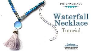 How to Bead Jewelry / Beading Tutorials & Jewel Making Videos / Bead Weaving Tutorials & Necklace Tutorial / Waterfall Necklace Tutorial