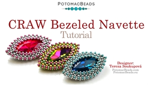 How to Bead / Free Video Tutorials / Beaded Beads / How to Bezel Navette Crystal with a Craw Stitch Tutorial