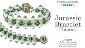 How to Bead Jewelry / Beading Tutorials & Jewel Making Videos / Bracelet Projects / Jurassic Bracelet Tutorial