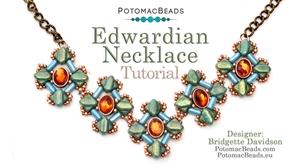 How to Bead Jewelry / Beading Tutorials & Jewel Making Videos / Bead Weaving Tutorials & Necklace Tutorial / Edwardian Necklace Tutorial