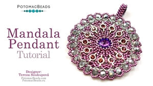 How to Bead Jewelry / Beading Tutorials & Jewel Making Videos / Pendant Projects / Mandala Pendant Tutorial