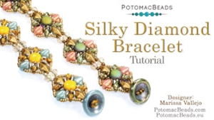 How to Bead Jewelry / Beading Tutorials & Jewel Making Videos / Bracelet Projects / Silky Diamond Bracelet Tutorial