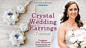 How to Bead Jewelry / Beading Tutorials & Jewel Making Videos / Earring Projects / Crystal Wedding Earrings Tutorial