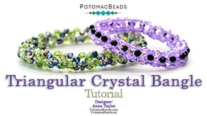 How to Bead / Free Video Tutorials / Bracelet Projects / Triangular Crystal Bangle Tutorial