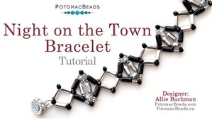 How to Bead Jewelry / Beading Tutorials & Jewel Making Videos / Bracelet Projects / Night on the Town Bracelet Tutorial