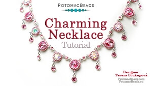 How to Bead Jewelry / Beading Tutorials & Jewel Making Videos / Bead Weaving Tutorials & Necklace Tutorial / Charming Necklace Tutorial