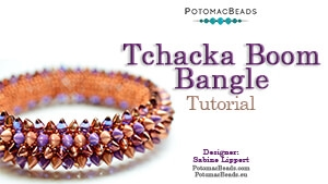 How to Bead Jewelry / Beading Tutorials & Jewel Making Videos / Bracelet Projects / Tchacka Boom Bangle Tutorial