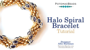 How to Bead / Free Video Tutorials / Bracelet Projects / Halo Spiral Bracelet Tutorial