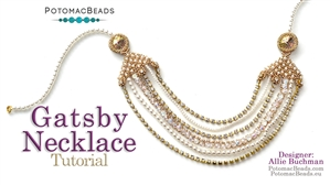 How to Bead Jewelry / Beading Tutorials & Jewel Making Videos / Bead Weaving Tutorials & Necklace Tutorial / Gatsby Necklace Tutorial