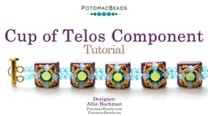 How to Bead Jewelry / Beading Tutorials & Jewel Making Videos / Bracelet Projects / Cup of Telos Component Tutorial