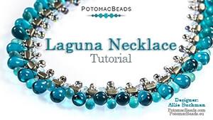 How to Bead Jewelry / Beading Tutorials & Jewel Making Videos / Bead Weaving Tutorials & Necklace Tutorial / Laguna Necklace Tutorial