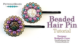 How to Bead / Free Video Tutorials / Beadweaving & Component Projects / Beaded Hair Pin Tutorial
