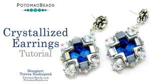 How to Bead Jewelry / Beading Tutorials & Jewel Making Videos / Earring Projects / Crystallized Earrings Tutorial