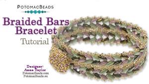 How to Bead Jewelry / Beading Tutorials & Jewel Making Videos / Bracelet Projects / Braided Bars Bracelet Tutorial