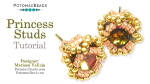 How to Bead Jewelry / Beading Tutorials & Jewel Making Videos / Earring Projects / Princess Stud Earrings Tutorial