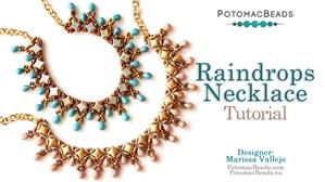 How to Bead Jewelry / Beading Tutorials & Jewel Making Videos / Bead Weaving Tutorials & Necklace Tutorial / Raindrops Necklace Tutorial