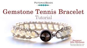 How to Bead Jewelry / Beading Tutorials & Jewel Making Videos / Bracelet Projects / Gemstone Tennis Bracelet Tutorial