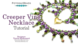 How to Bead / Free Video Tutorials / Necklace Projects / Creeper Vine Necklace Tutorial