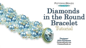 How to Bead Jewelry / Beading Tutorials & Jewel Making Videos / Bracelet Projects / Diamonds in the Round Bracelet Tutorial