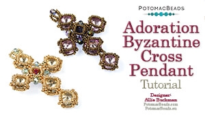 How to Bead / Free Video Tutorials / Pendant Projects / Adoration Byzantine Cross Pendant Tutorial