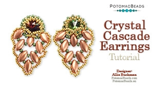 How to Bead / Free Video Tutorials / Earring Projects / Crystal Cascade Earrings Tutorial