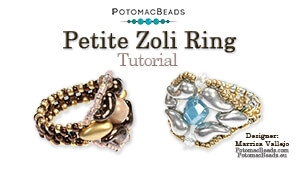 How to Bead / Free Video Tutorials / Ring Projects / Petite Zoli Ring Tutorial