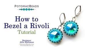 How to Bead / Free Video Tutorials / Beaded Beads / How to Bezel a Rivoli Tutorial