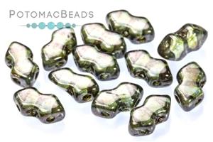 Czech Pressed Glass Beads / 3 Hole Beads / Spear Beads