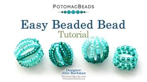 How to Bead / Free Video Tutorials / Beaded Beads / Easy Beaded Bead Tutorial