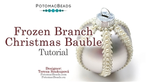 How to Bead / Free Video Tutorials / Holiday Themed Projects / Frozen Branch Christmas Bauble Tutorial