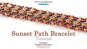 How to Bead Jewelry / Beading Tutorials & Jewel Making Videos / Bracelet Projects / Sunset Path Bracelet Tutorial