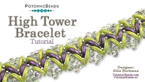 How to Bead Jewelry / Beading Tutorials & Jewel Making Videos / Bracelet Projects / High Tower Bracelet Tutorial