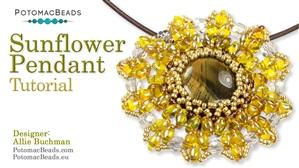 How to Bead Jewelry / Beading Tutorials & Jewel Making Videos / Pendant Projects / Sunflower Pendant Tutorial