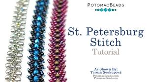 How to Bead Jewelry / Beading Tutorials & Jewel Making Videos / Bracelet Projects / Saint Petersburg Stitch Tutorial