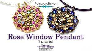 How to Bead Jewelry / Beading Tutorials & Jewel Making Videos / Pendant Projects / Rose Window Pendant Tutorial