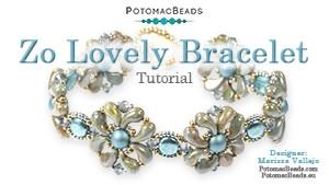 How to Bead Jewelry / Beading Tutorials & Jewel Making Videos / Bracelet Projects / Zo Lovely Bracelet Tutorial
