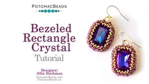 How to Bead / Free Video Tutorials / Beaded Beads / Bezeled 13x18mm Rectangle Crystal Tutorial