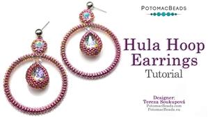 How to Bead / Free Video Tutorials / Earring Projects / Hula Hoop Earrings Tutorial